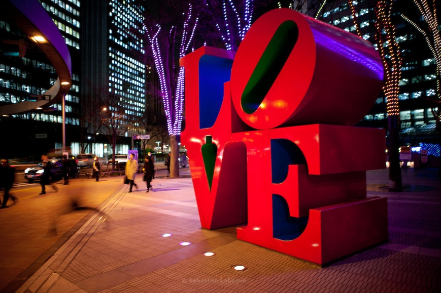Love sculpture - Robert Indiana -  Shinjuku